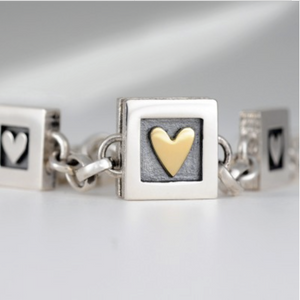 Heart of Gold Bracelet- 3 Hearts
