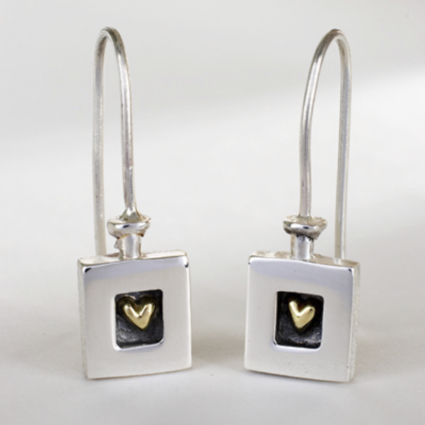 Heart of Gold Drop Earrings