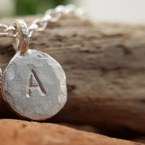 Silver Letters Pendant | You and I