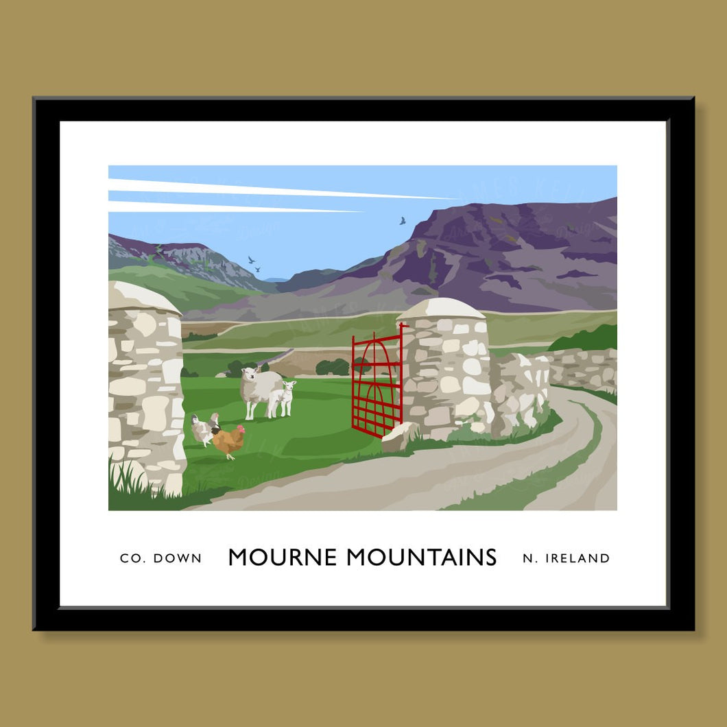 Mourne Mountains, Hares Gap - Print