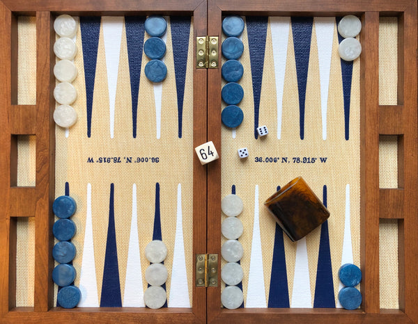 Custom Walnut Folding Backgammon Board