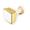 Square Brass Ravioli Stamp, Spring Loaded, Large