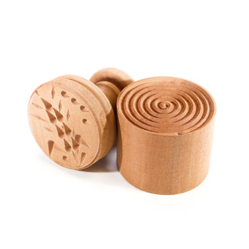 Wooden Corzetti Stamp, Wheat