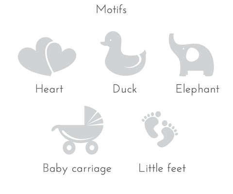 motif choices for baby note pads