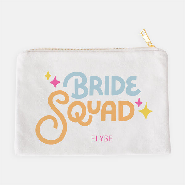 the bride squad cosmetic bag