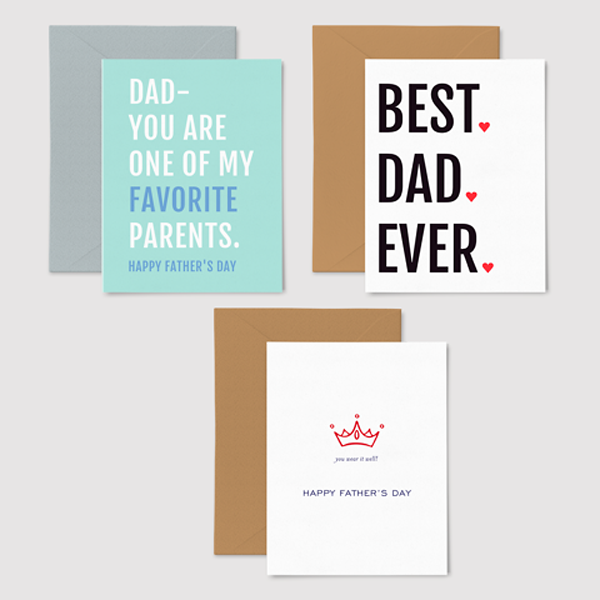 Fathers day greeting card set