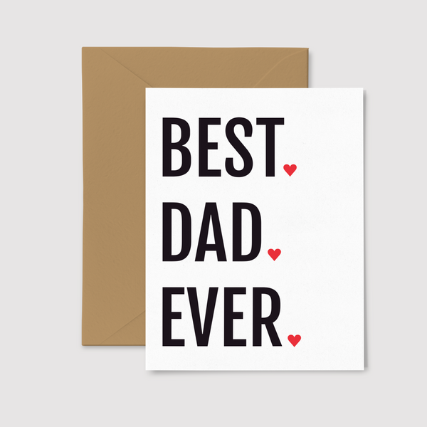 Best Dad Ever greeting card, from set of three Father's Day Cards