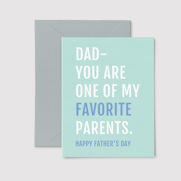 One of My Favorite Parents greeting card, from set of three Father's Day Cards