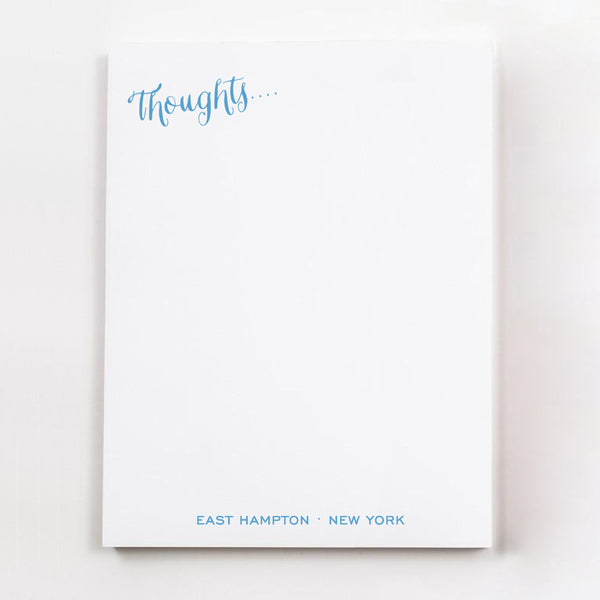 Thoughts.... personalized guest room note pages in denim ink