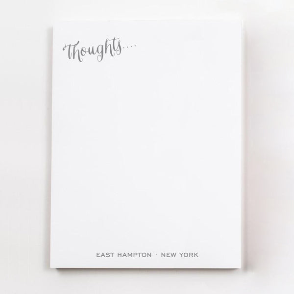 Thoughts.... personalized guest room note pages in light grey ink