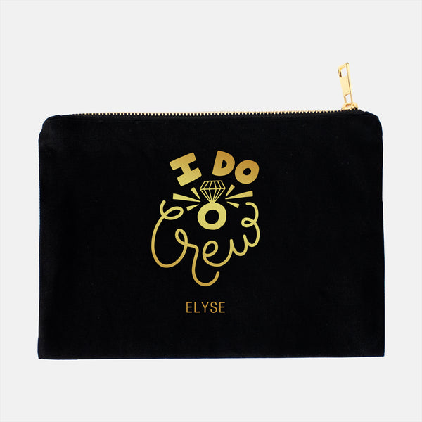 personalized lined cosmetic case