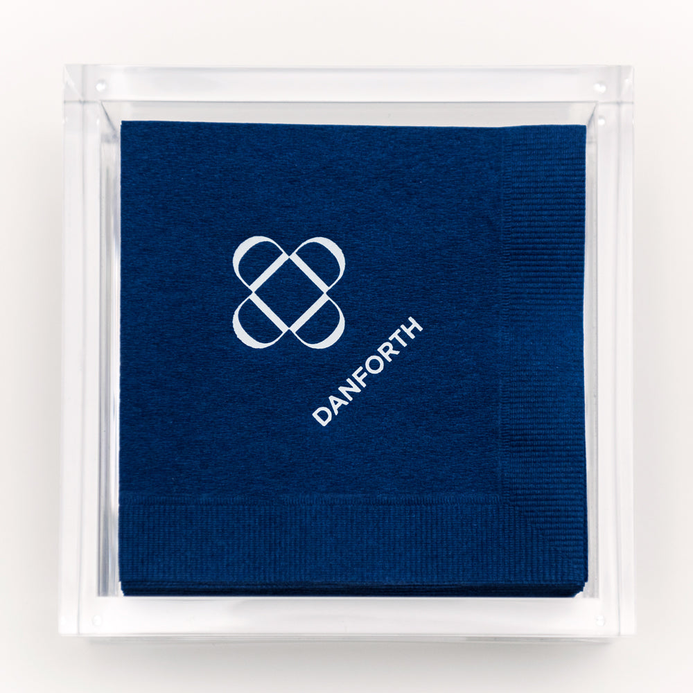 Monogram cocktail napkins