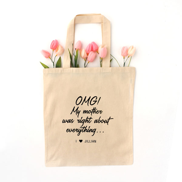 personalized mother's day tote