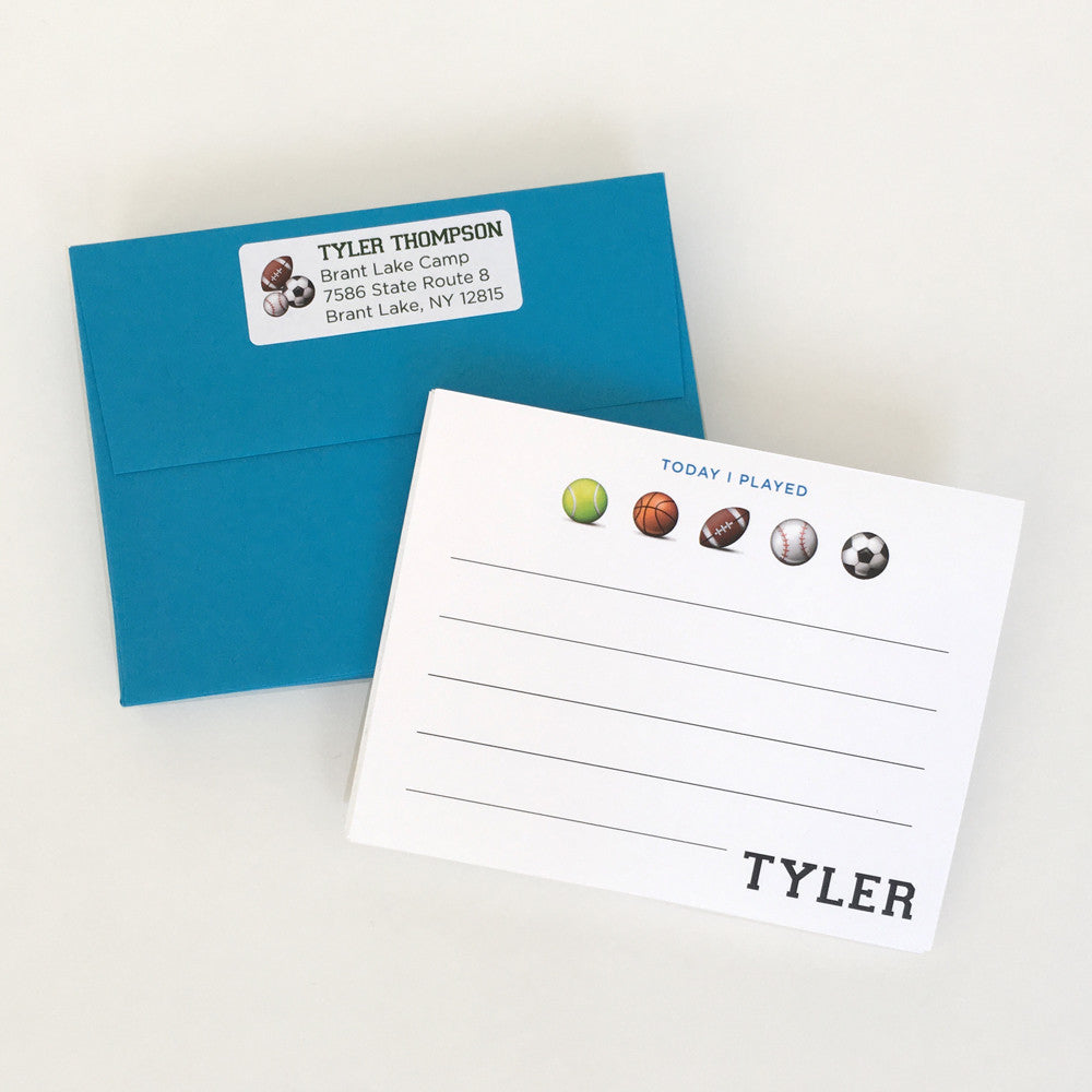Sports Note Cards