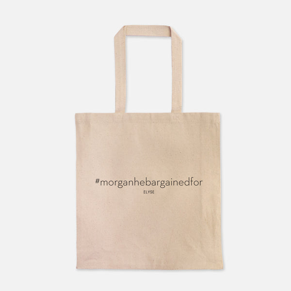custom hastag wedding tote