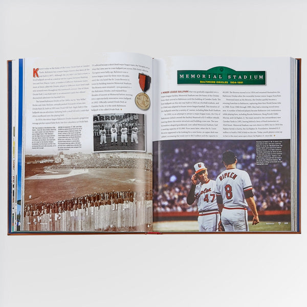 Ballparks Past and Present Book - Memorial Stadium