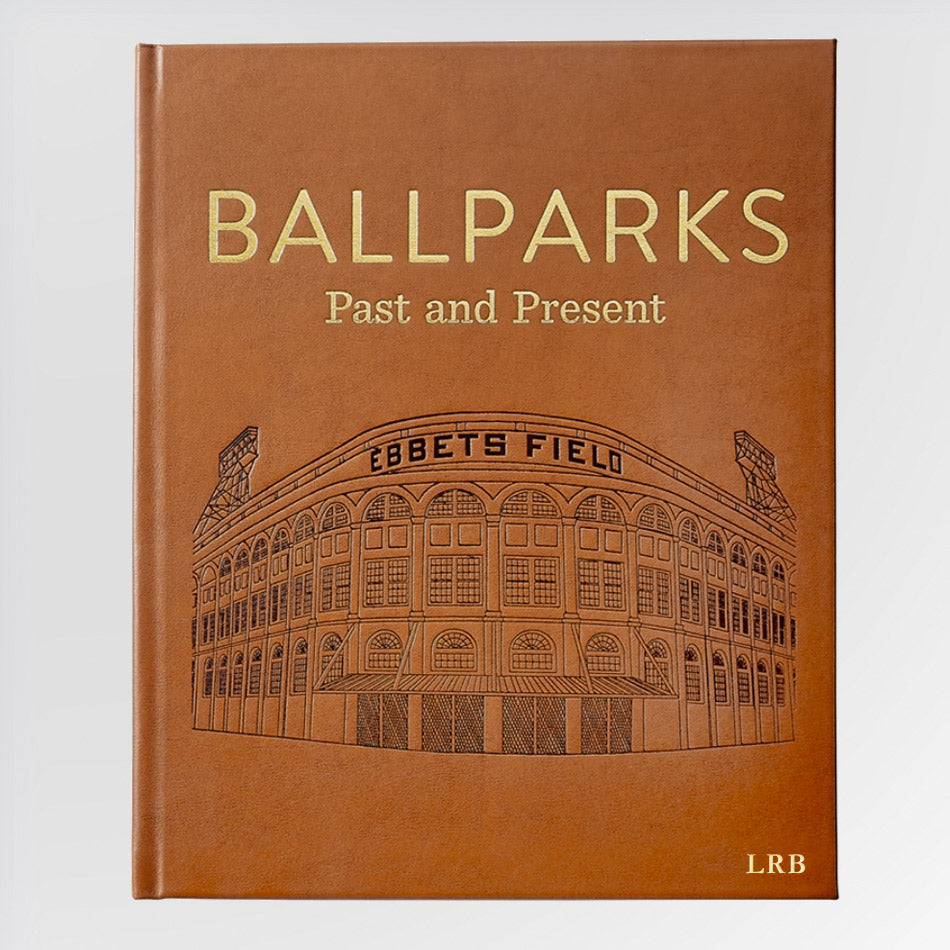 Ballparks Past and Present Book - with Gold Monogram