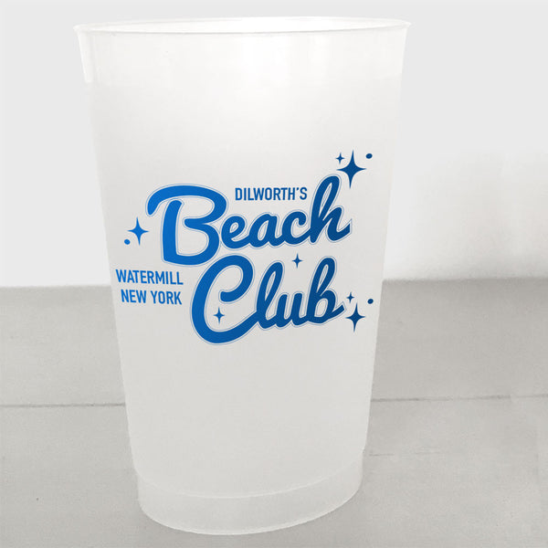 Personalized Retro Shatterproof Cups, Beach Club style