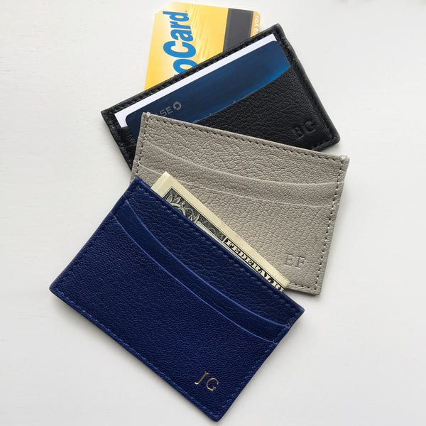 business card cases in leather
