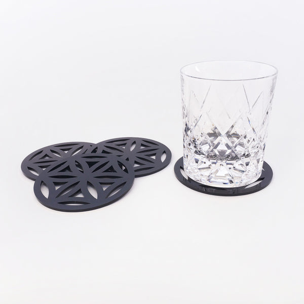 set of four awesome coasters