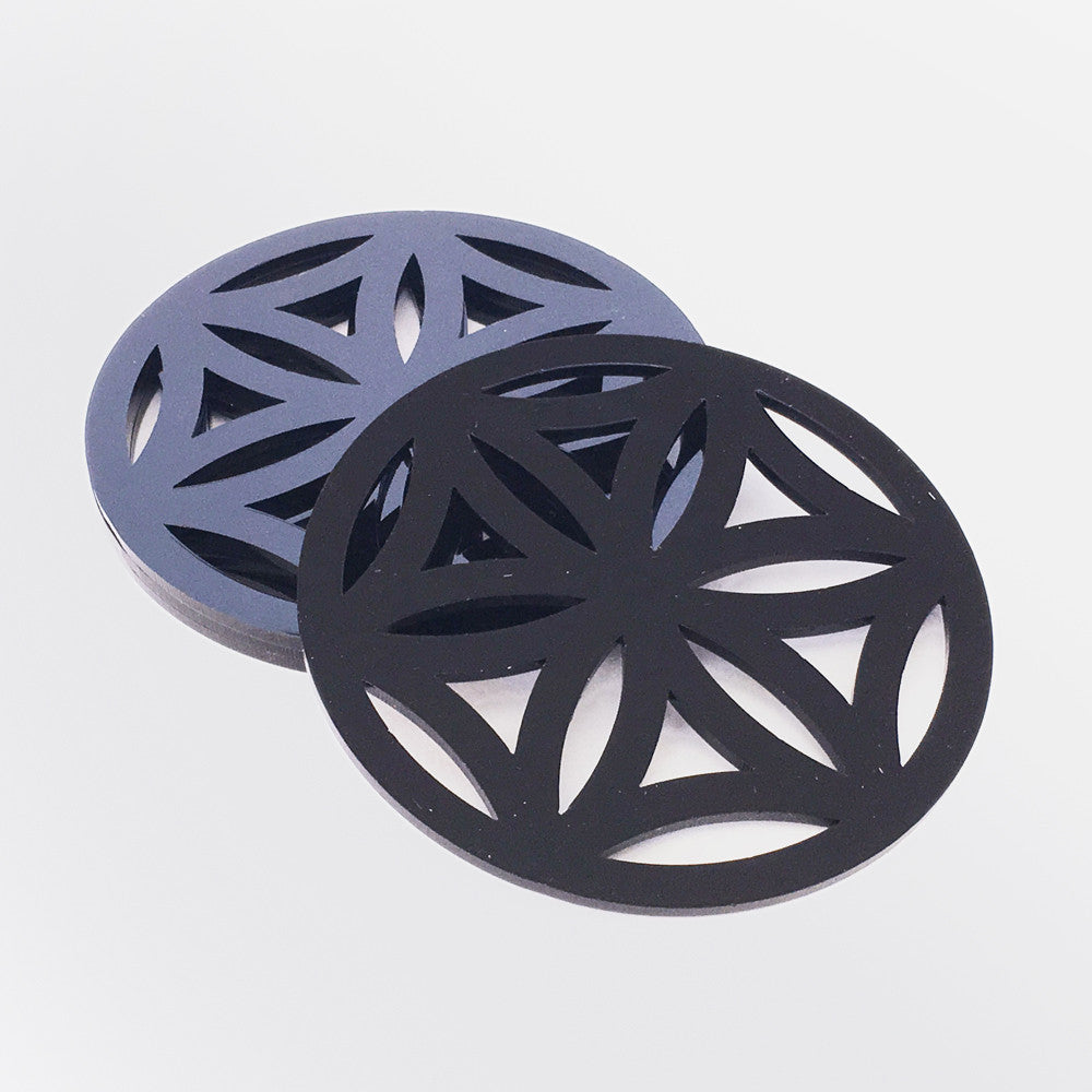 Stylish geometric coasters