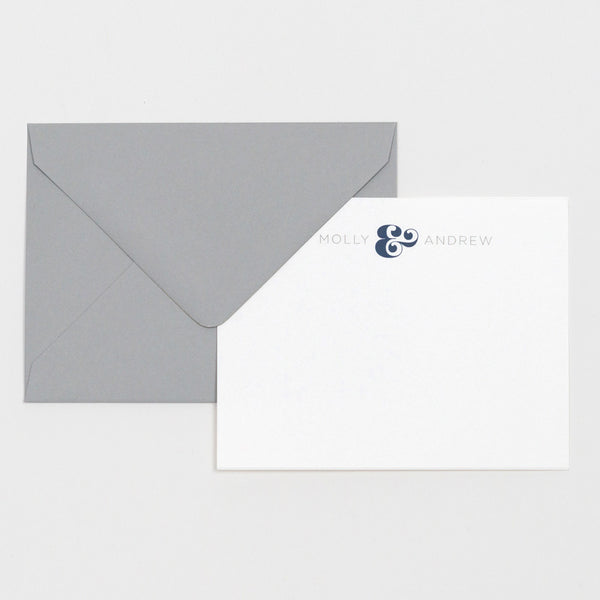 Everyday Stationery Set in Navy and Grey