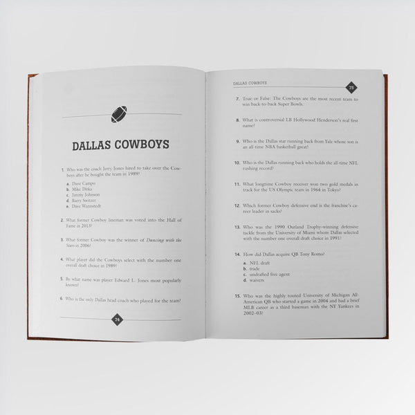 All-Time, All-Team Pro Football Quiz Book - Dallas Cowboys