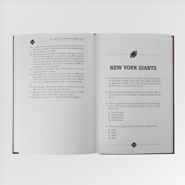 All-Time, All-Team Pro Football Quiz Book - NY Giants