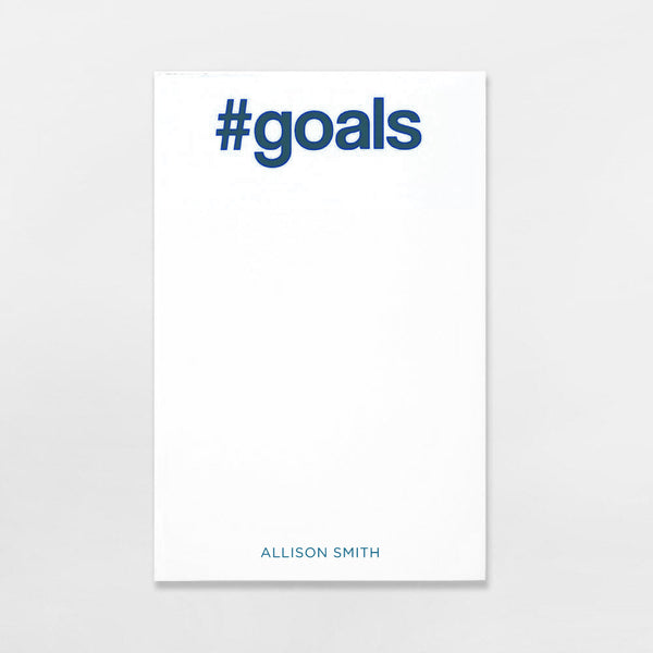 #Goals Pad personalized in navy ink