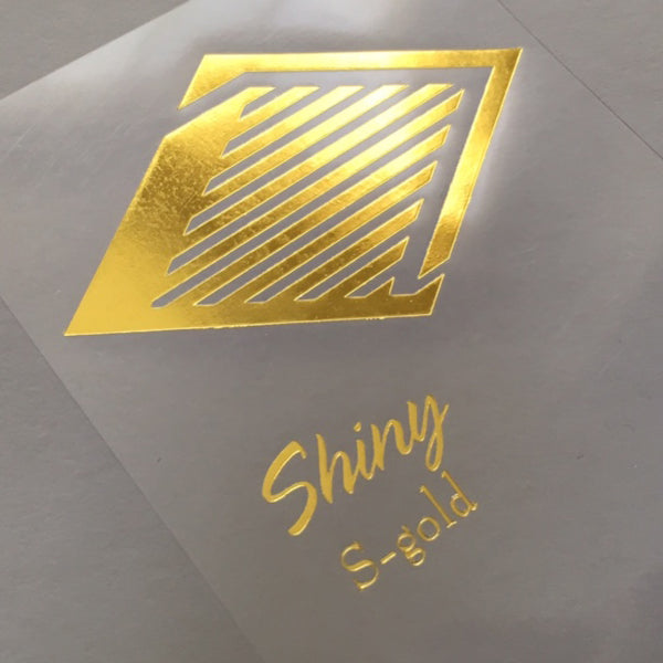 Shiny Gold foil imprint