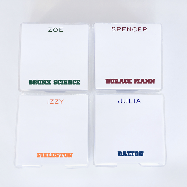 Promote school pride with these fun  presonalized note pads