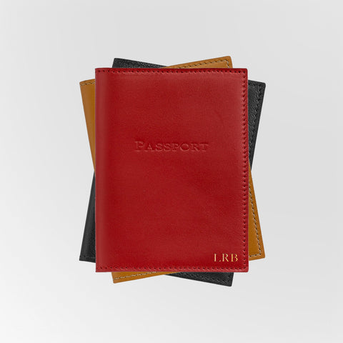 Personalized Leather Passport Holders
