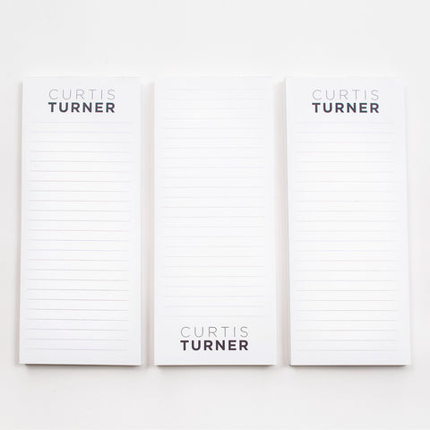 Personalized Lined List Pads
