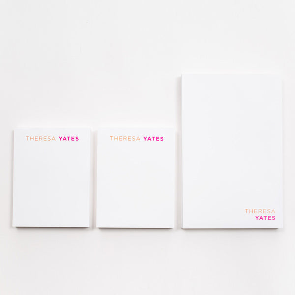 Modern Assorted Personal Writing Pads