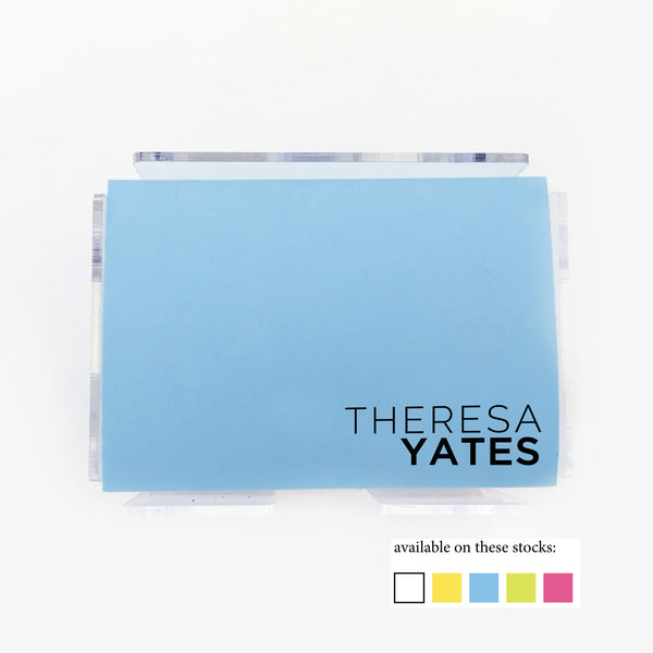 Modern Spot Color Post it Notes