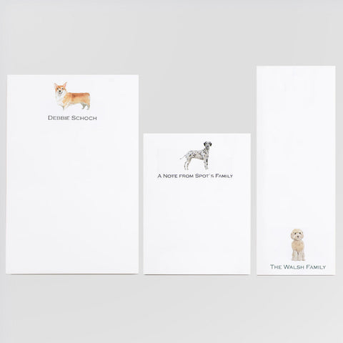 Personalized pads featuring you choice of dog or cat