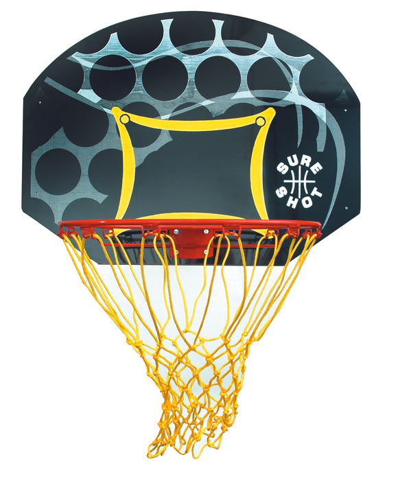 Sure Shot Junior Backboard & ring set - coloured backboard