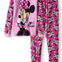 Minnie Mouse Girls' Thermal 2-Piece Underwear Set-We Got Character