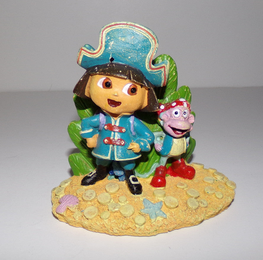 Pirate Dora & Boots Aquarium Fish Tank Decoration