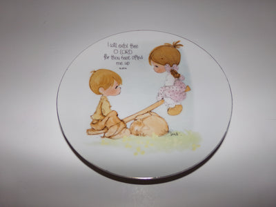 Precious Moments Plate I Will Extol - We Got Character