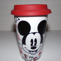 Mickey Mouse Quotes Double Wall Ceramic Travel Tumbler-We Got Character