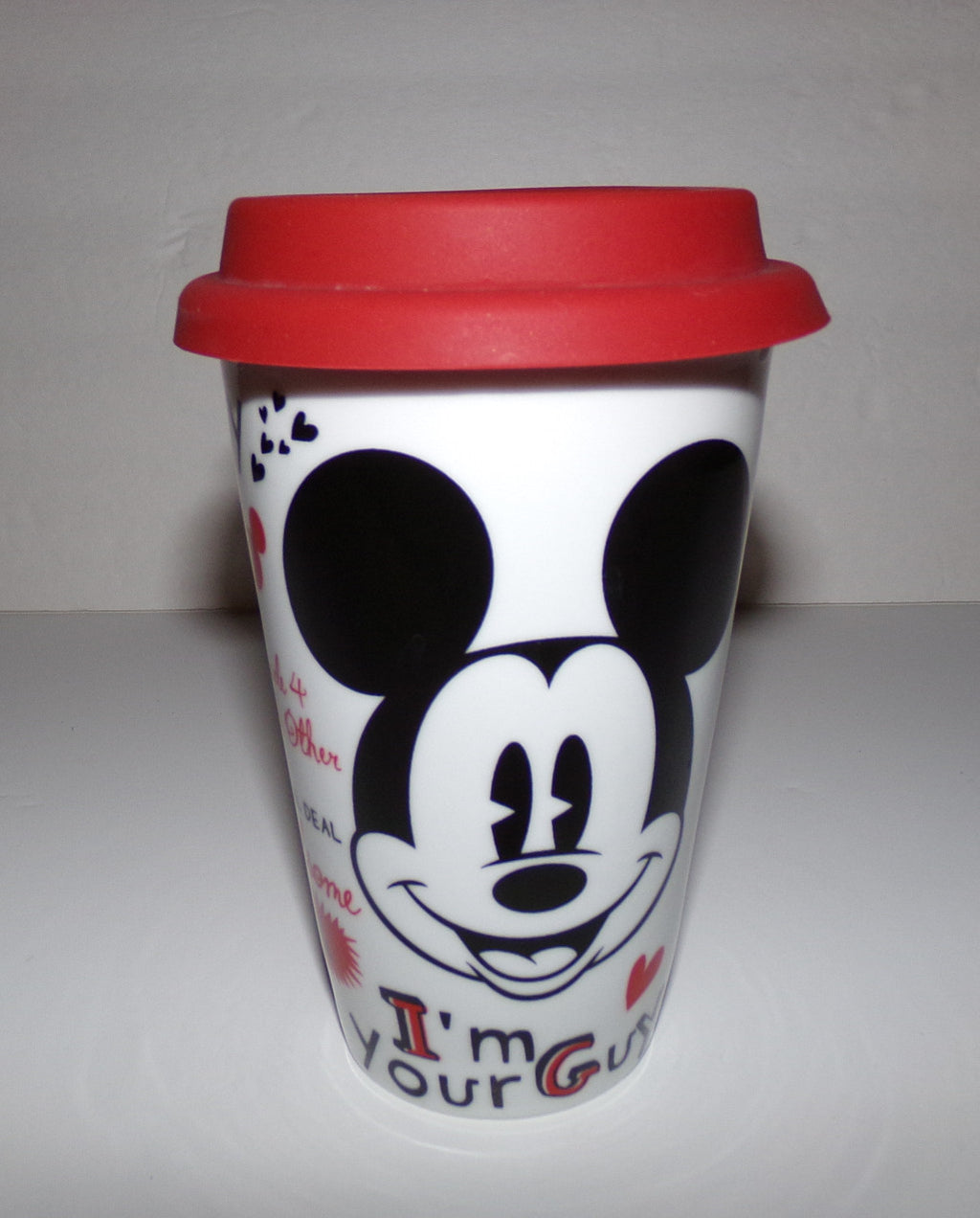 Mickey Mouse Quotes Double Wall Ceramic Travel Tumbler - We Got Character