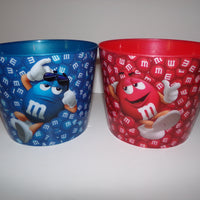 Lot of 2 M&M Popcorn Candy Bowls - We Got Character