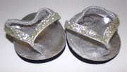 Build A Bear Gray Flip Flops Sandals Shoes-We Got Character
