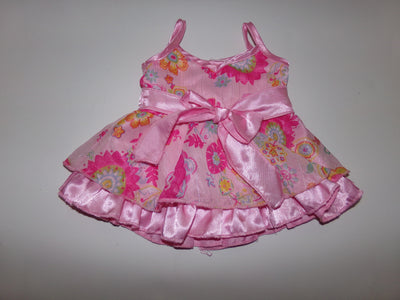 Build A Bear Pink Floral Dress-We Got Character