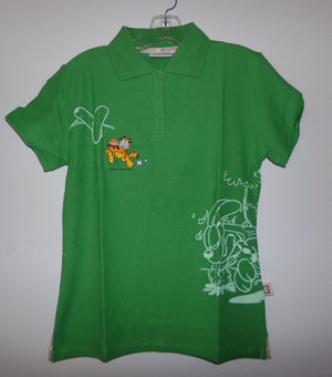 Garfield Green Polo Shirt-We Got Character