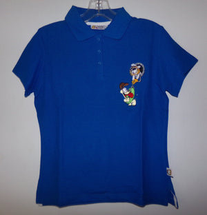 Garfield Blue Polo Shirt - We Got Character