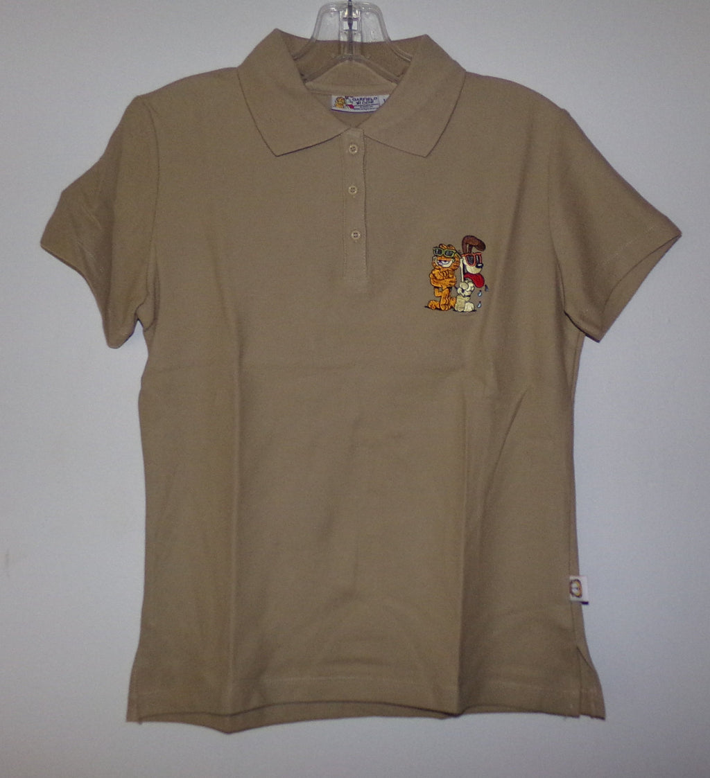Garfield Brown Polo Shirt-We Got Character