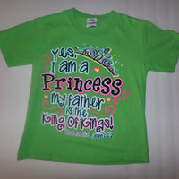 Cherished Girl Youth Green Shirt Yes I Am A Princess-We Got Character