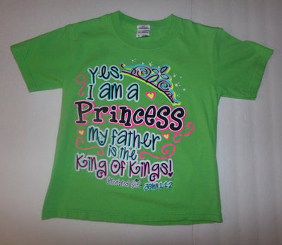 Cherished Girl Youth Green Shirt Yes I Am A Princess - We Got Character